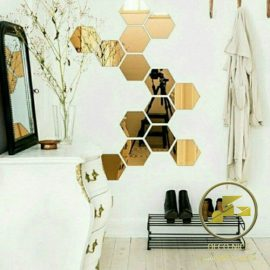 آینه دکوراتیو شش ضلعی