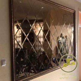 آینه دکوراتیو طرح لوزی